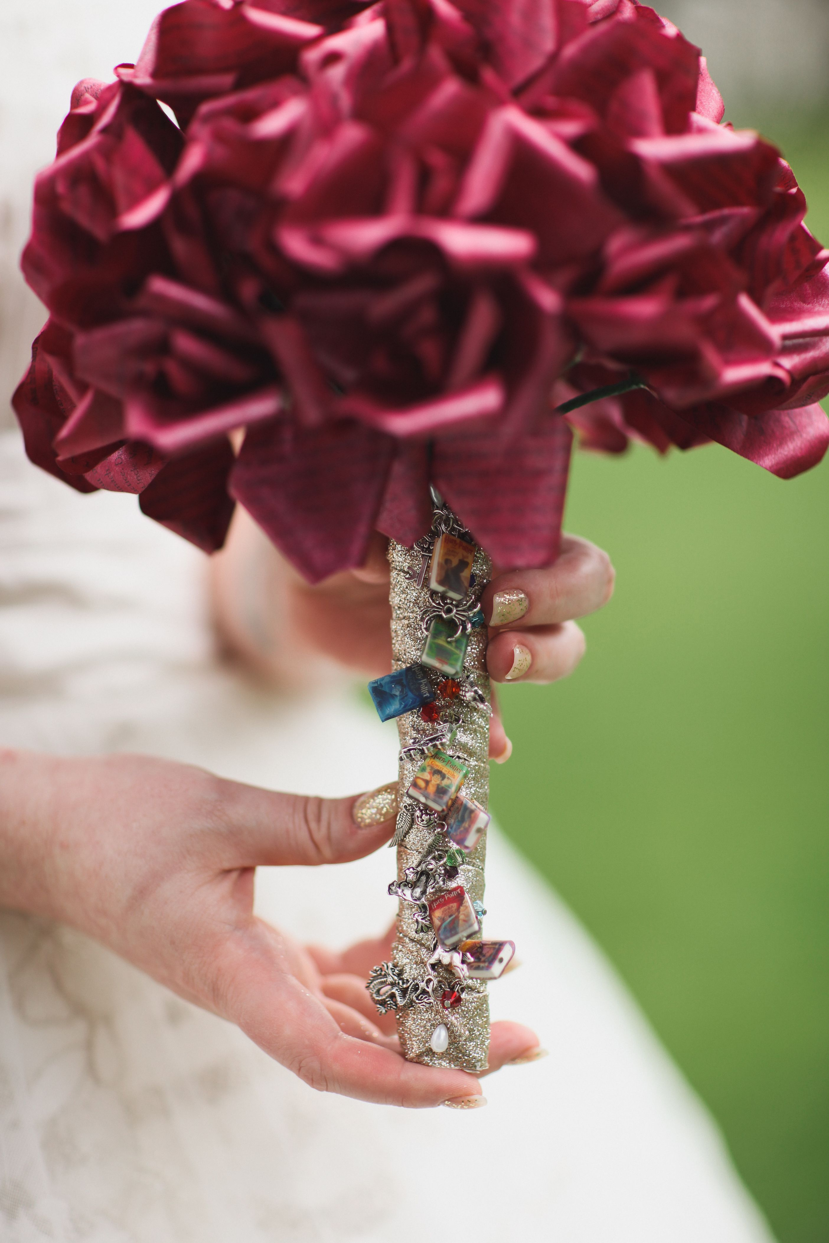 This Bouquet Was Made Out Of Pages From Harry Potter Really