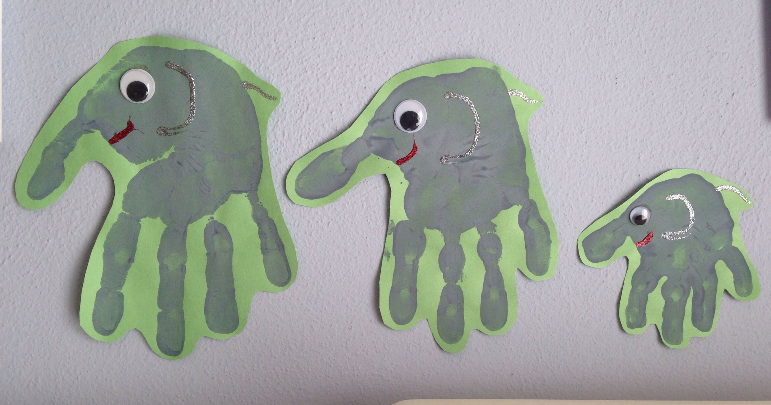 Elephant Handprint Craft - Circus Craft - Family Craft - Preschool ...