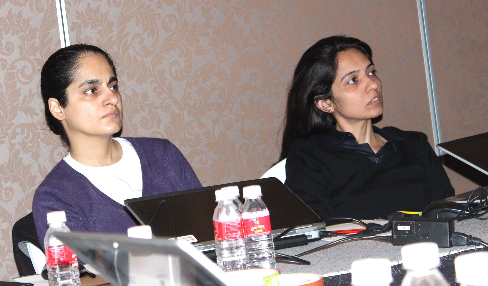 Geera Bellare, AVP - Learning Design and Sonal Sheth, AVP - Custom Learning Solutions completely engaged in the ongoing discussion