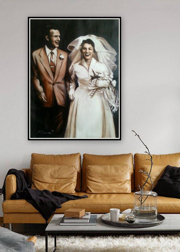 PorträtÖlgemälde  doppeltes kundenspezifisches Porträt  Hochzeit Familie Kinderporträts  moderne WandkunstGeschenkidee   Kunstmarkt  Art market G...