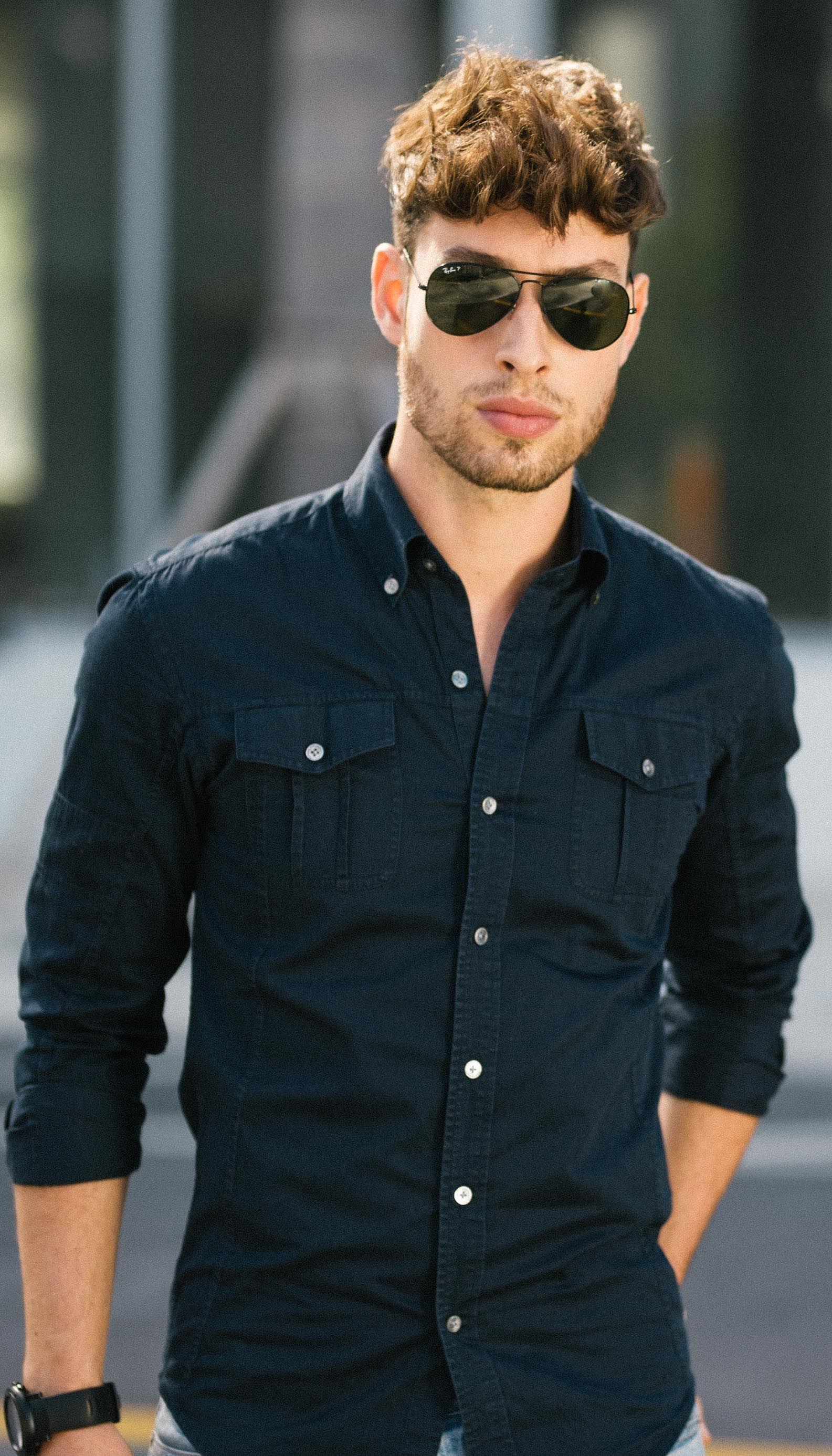 Men S Fitted Utility Shirt Stylish Men Casual Fashion Suits For Men Men Shirt Style [ 2773 x 1585 Pixel ]