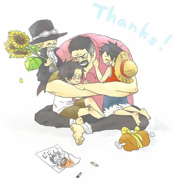 Sabo - Ace - Garp - Luffy