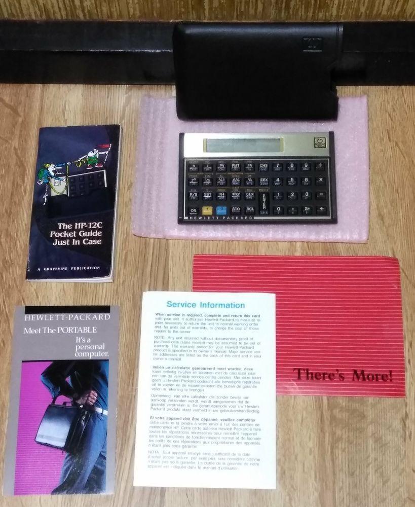 vintage original hp 12c financial calculator made usa case pocket rh pinterest ch hp 12c cfa guide hp 12c user guide download
