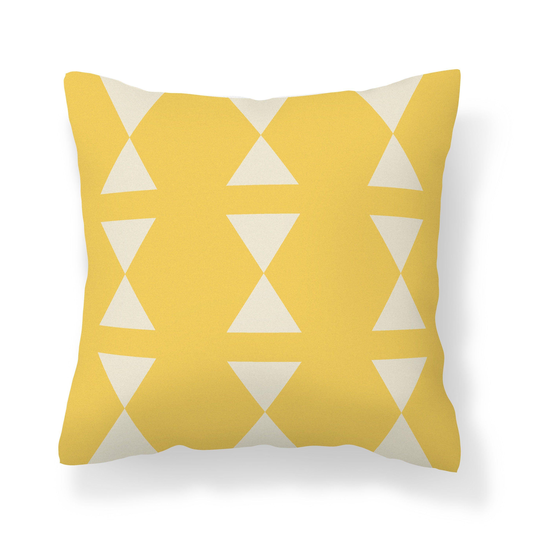 Geometric throw pillows