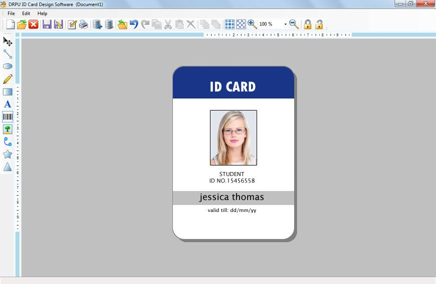 School Id Template Free Download Employee Id Card Template Templates Collections Id Card Template Employee Id Card Card Templates Free