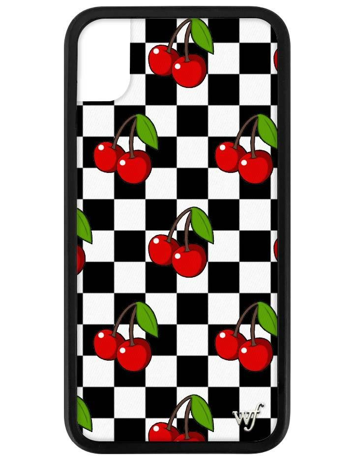 Cherry Checkers Iphone Xr Case Apple Phone Case Wildflower