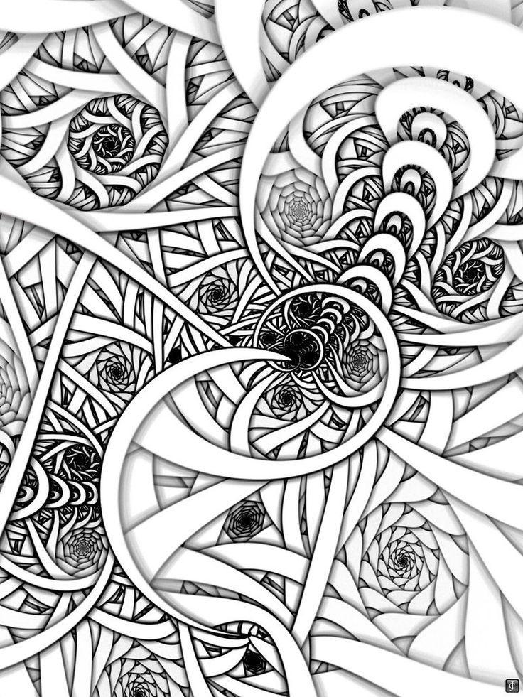 Zenspirals Coloring Pages Drawings Zentangle Drawings Art Tangle Art