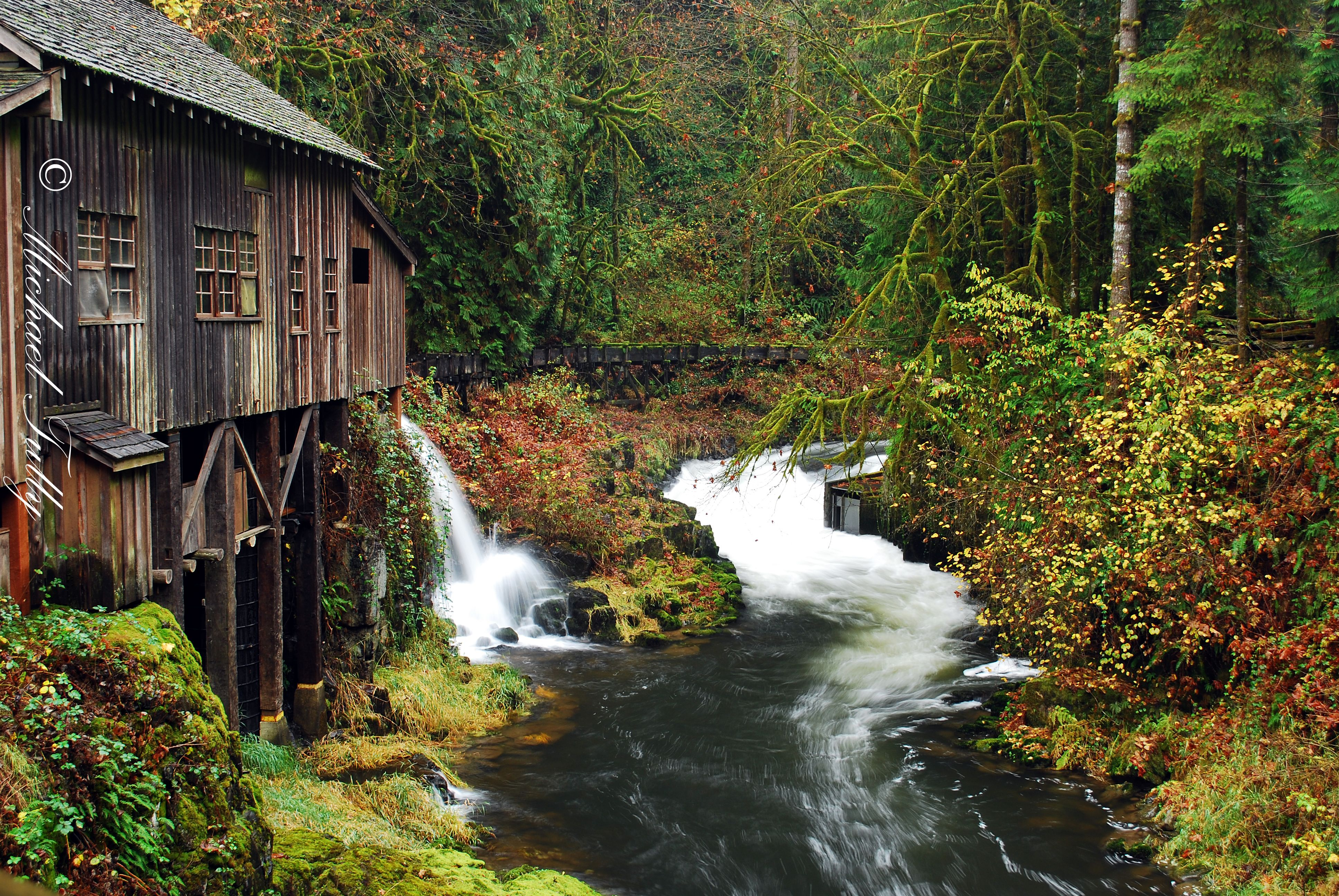 Cedar Creek Grist Mill A Real Working Mill Near Vancouver