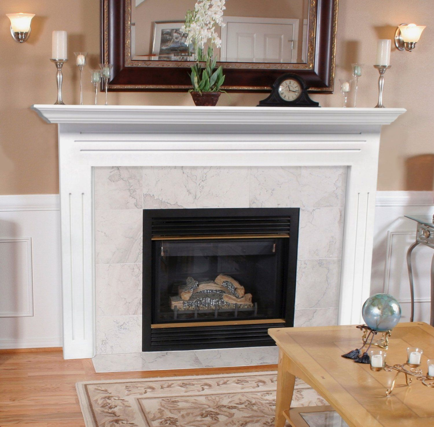 Fireplace Mantels And Surrounds Ideas White Granite Fireplace  Google Search  Fireplace  Pinterest