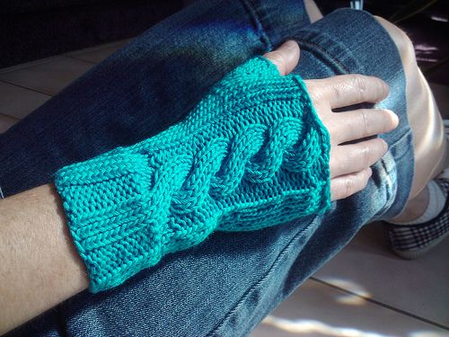 Fingerless Mitts Free Knitting Pattern | Dos AGUJAS GUANTES ...