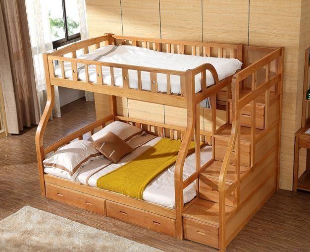 Litera moderna cama literas ni os de madera de abedul cama - Camas de bebes ...