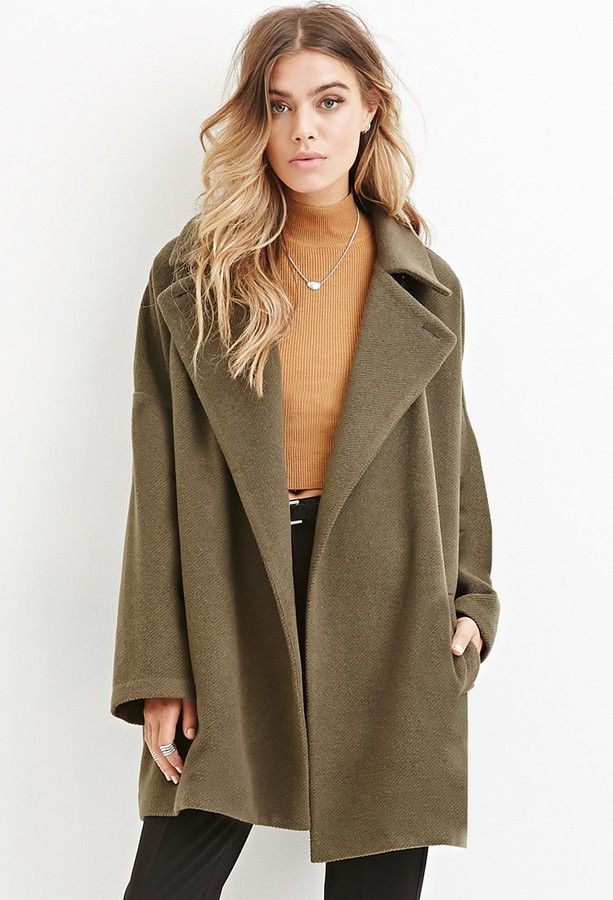 Forever 21 longline wool-blend coat in the color that we love! Get it now on ShopStyle