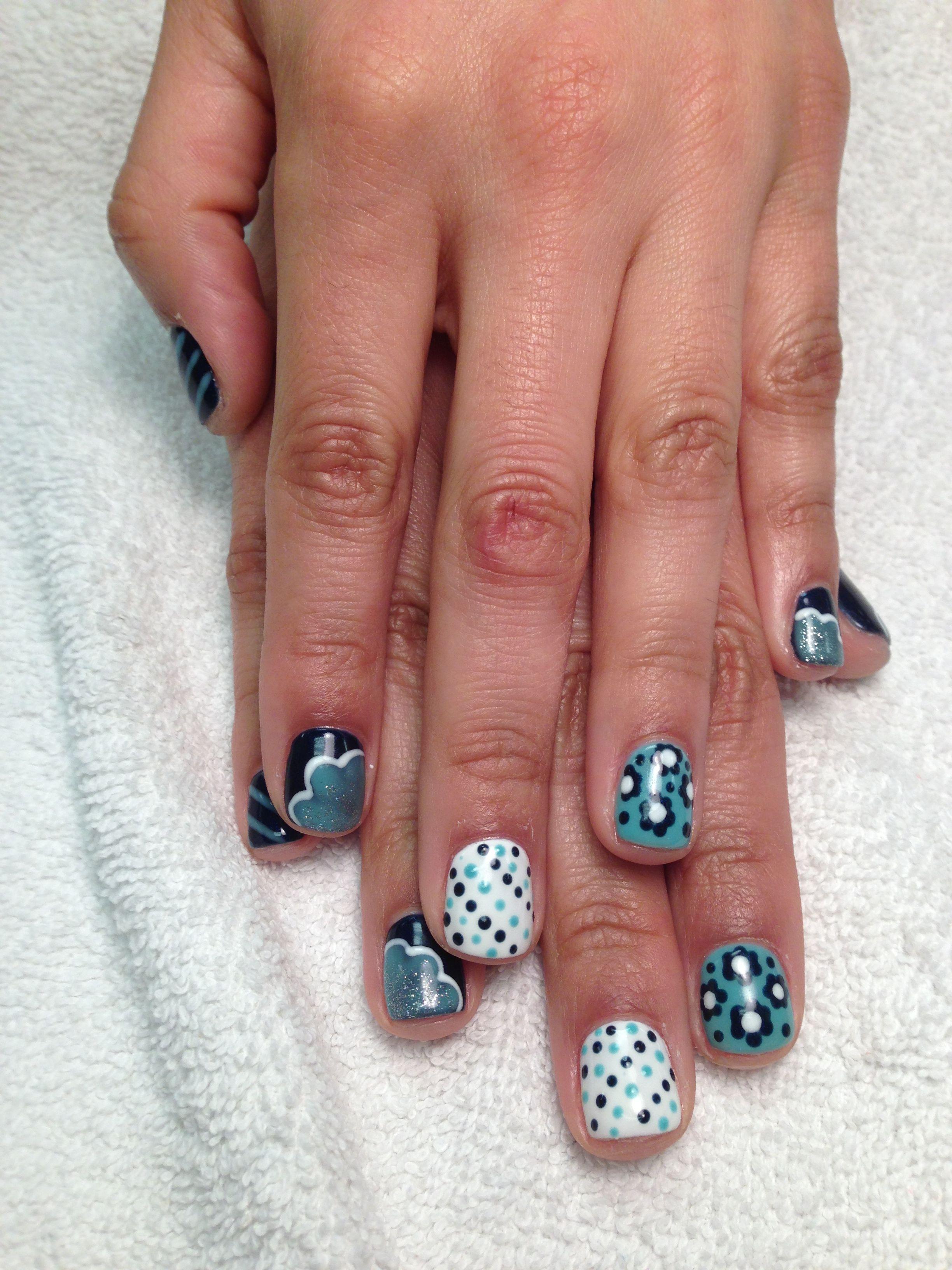 Polka Dot Flower Nails Art Pinterest