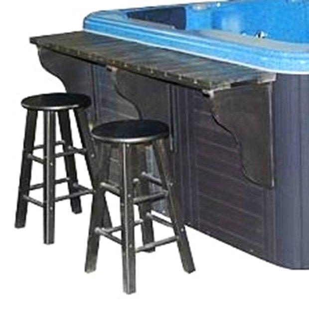 Bar and stools hot tub accessory