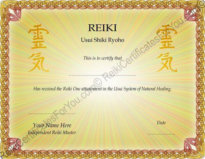 Reiki certificate template xszriahz healing pinterest reiki certificate template xszriahz yadclub Image collections
