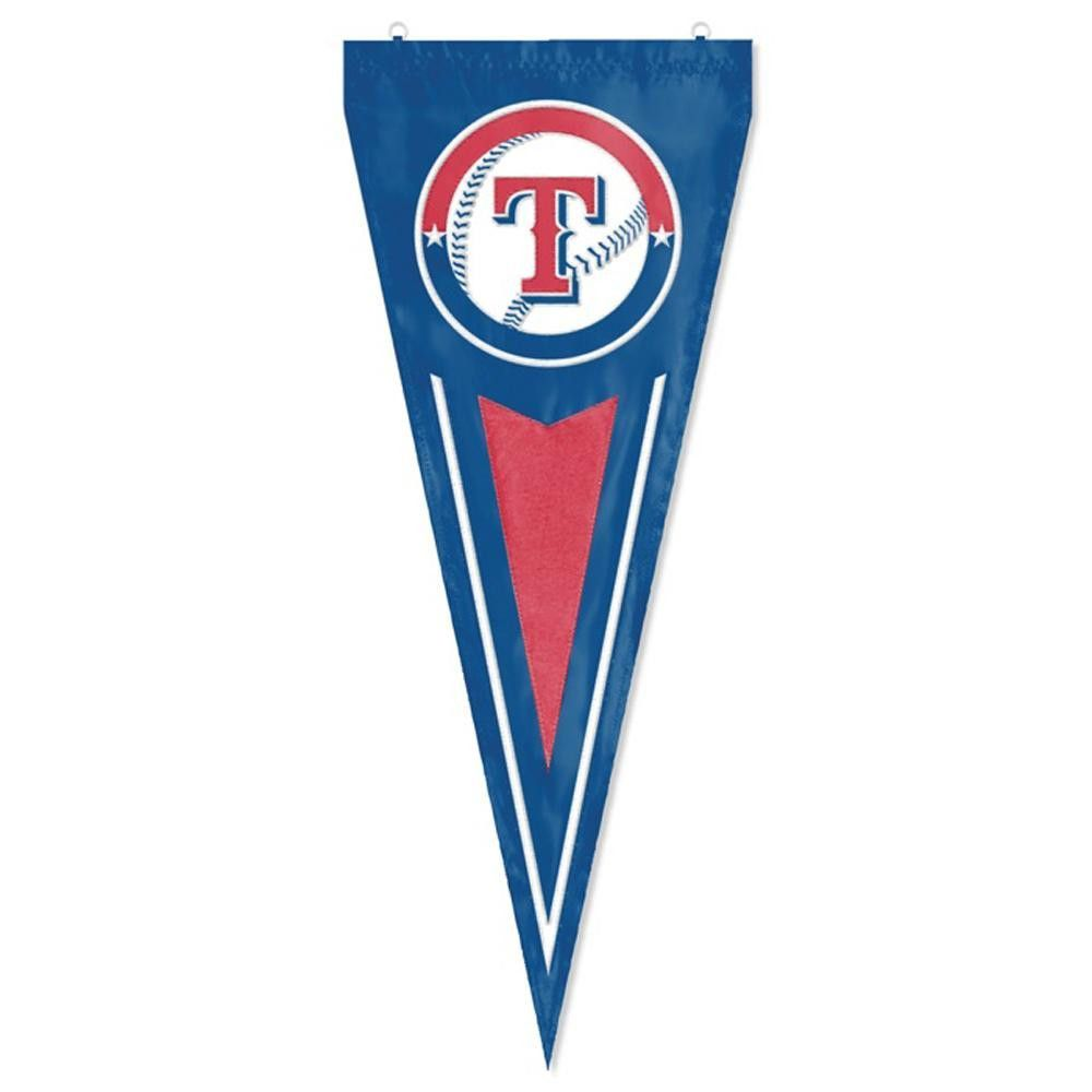 Texas Rangers MLB Applique & Embroidered Yard Pennant (34x14)