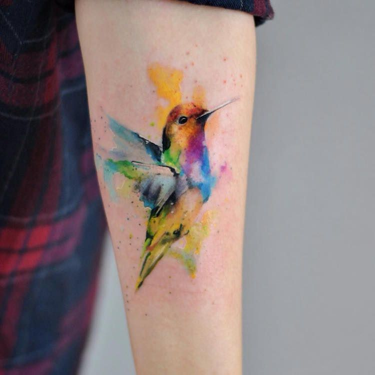 35+ Watercolor Tattoos Beautifully Transform Bodies into Living Art ...