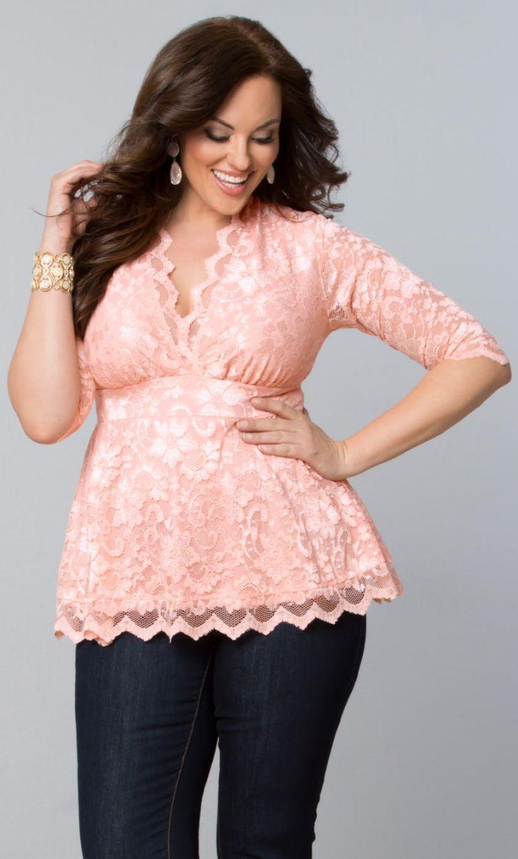 Linden Lace Top - Peach Zinfandel | moda | Pinterest | Tops de ...