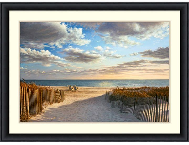 Sunset Beach Framed Art Print Products Beach Canvas Wall Art