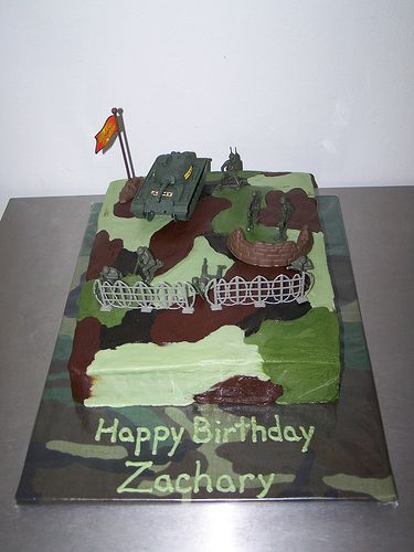 Camo cake My sons 5th birthday party was Army themed so I did