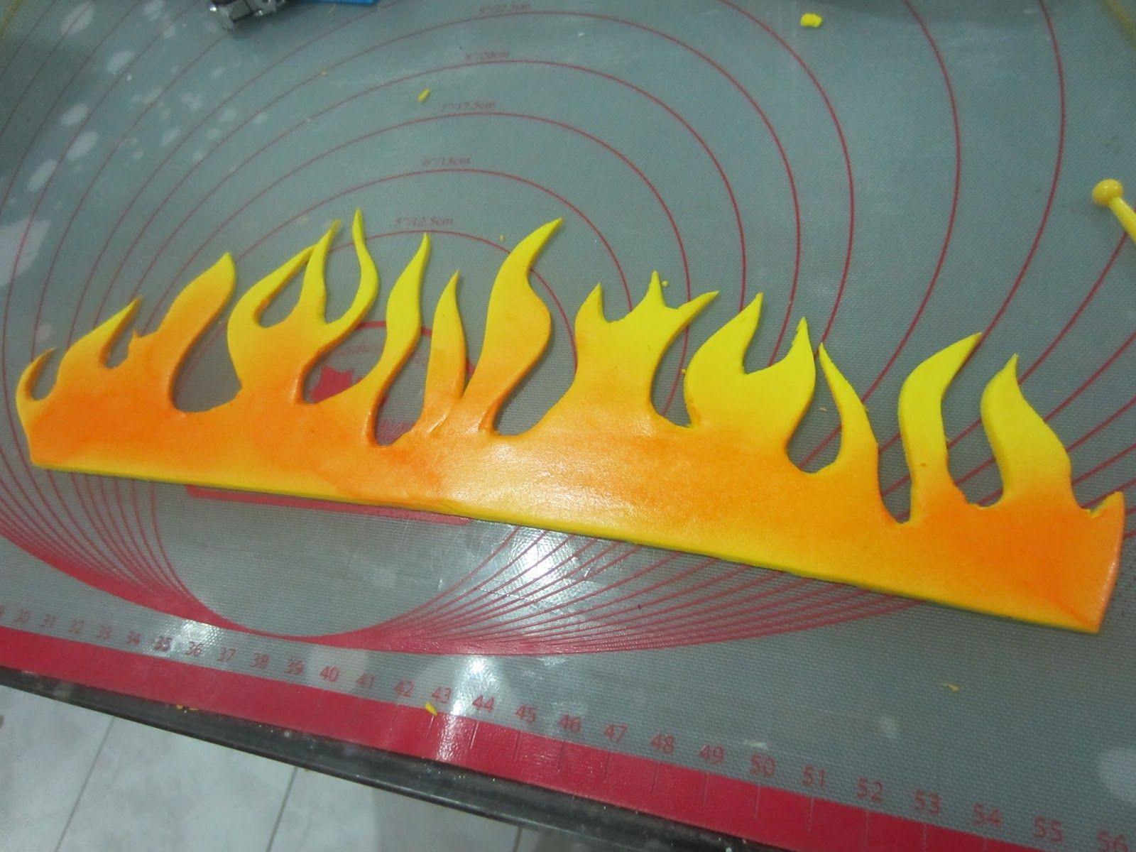 Flames Template for Fondant Cake | Rezepte | Pinterest ...