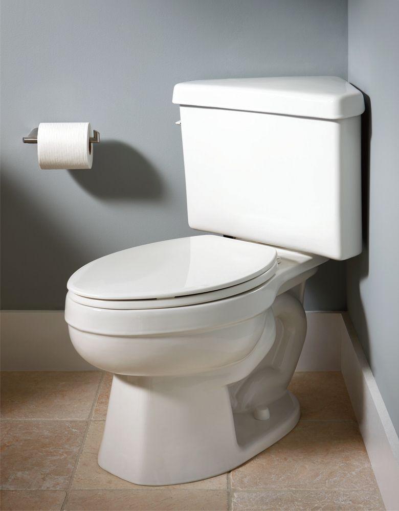 American Standard 4338016021 Titan Pro Triangle Toilet Tank- Bone ...