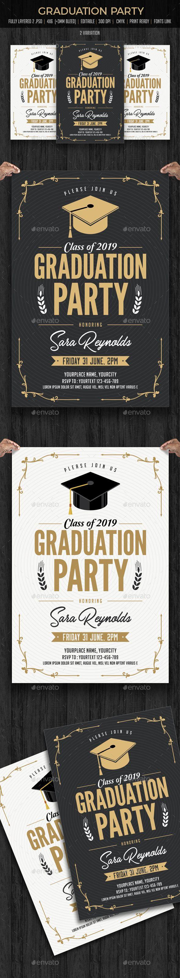Graduation Invitation   Graduation invitation cards, Card templates ...
