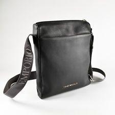 Emporio Armani Grey Mens Shoulder / Messenger / Reporter Bag ...