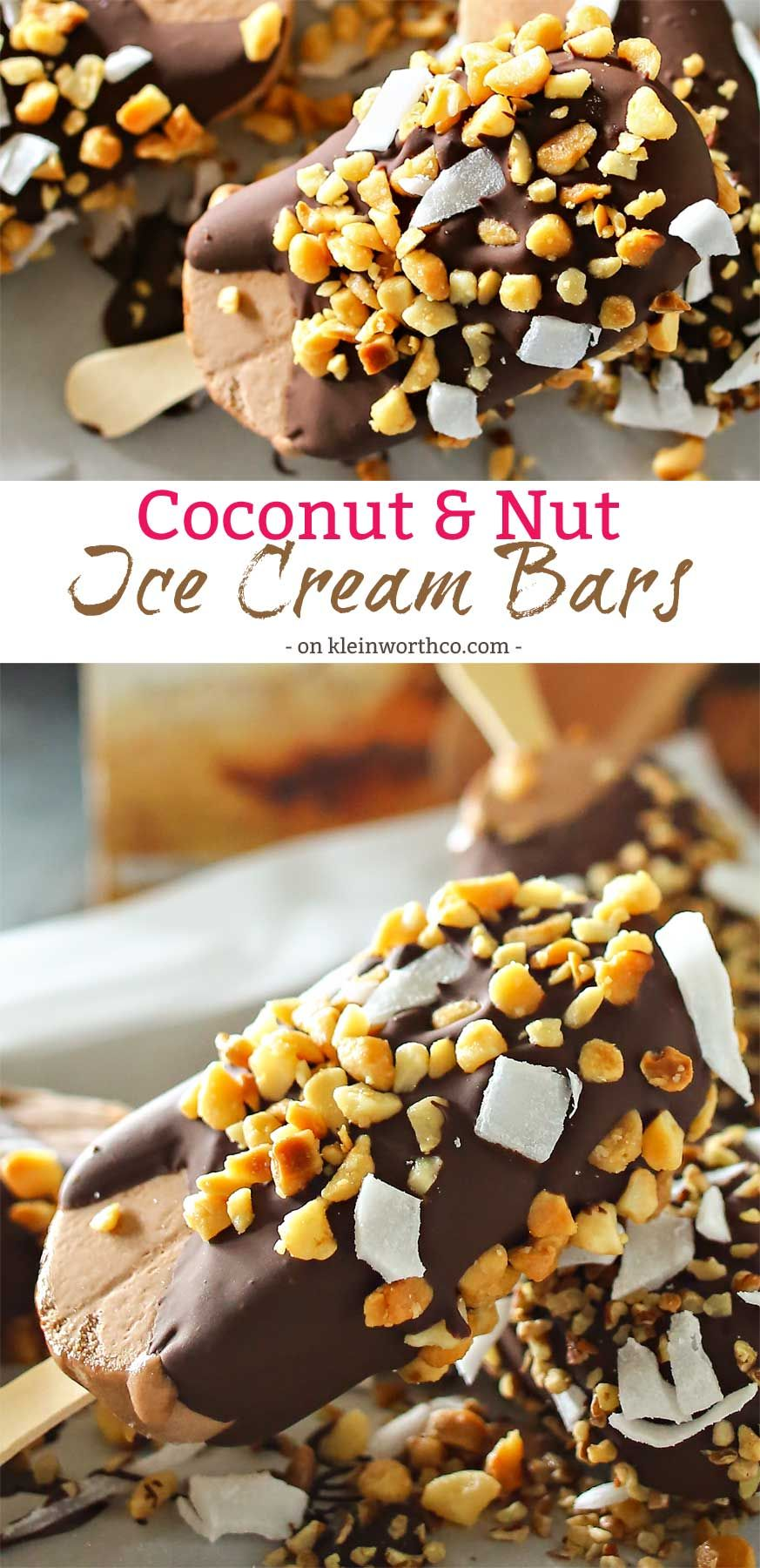 Coconut Nut Ice Cream Bars Are The Perfect Little Cool