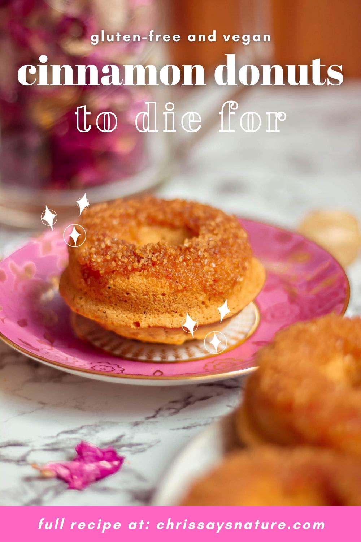 Amazing cinnamon sugar donuts - gluten-free and vegan recipe