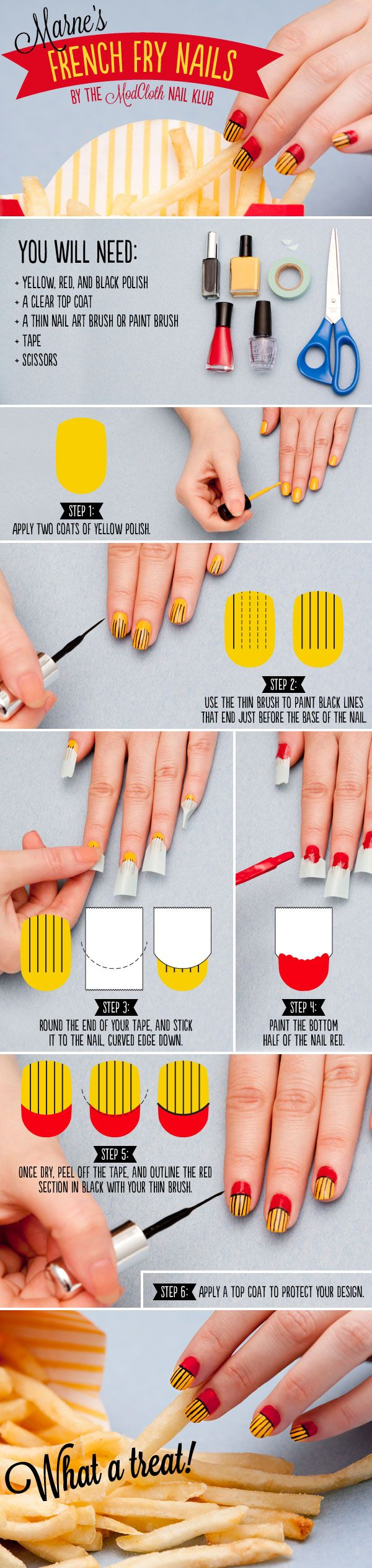 Nail klub indulge in our french fry nail art tutorial nails