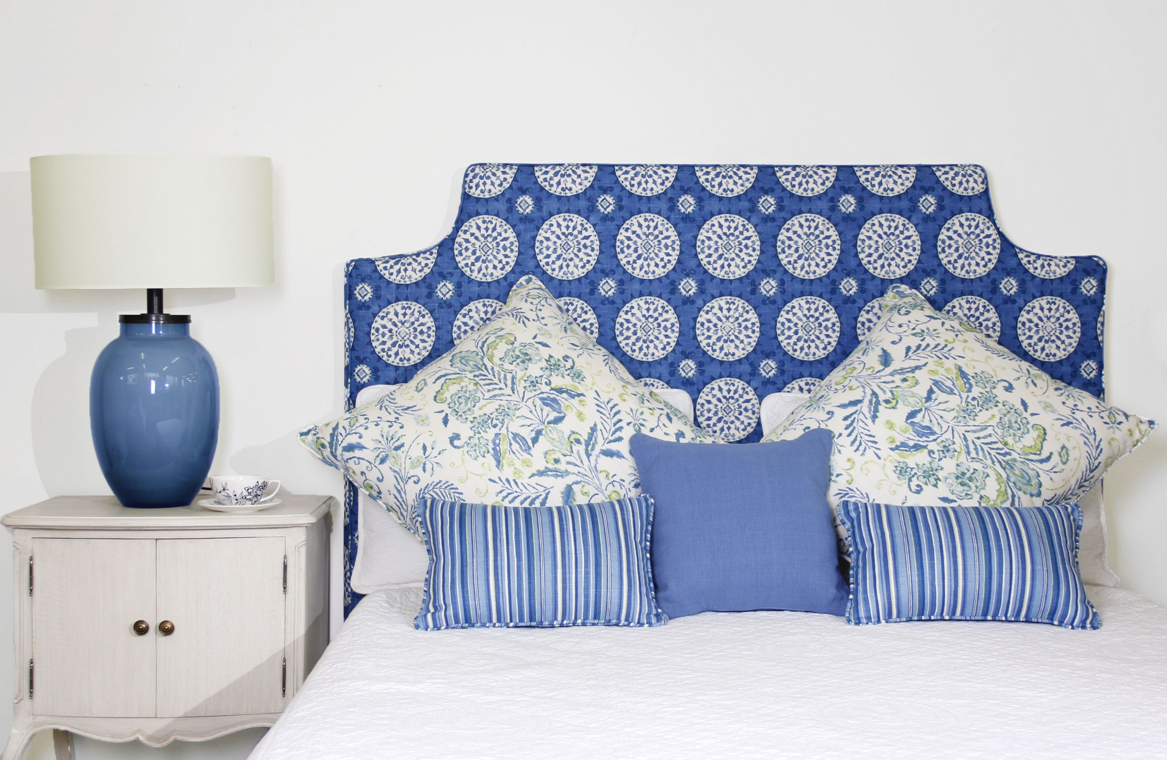 Rosemary removable loose cover bedhead available fully upholstered