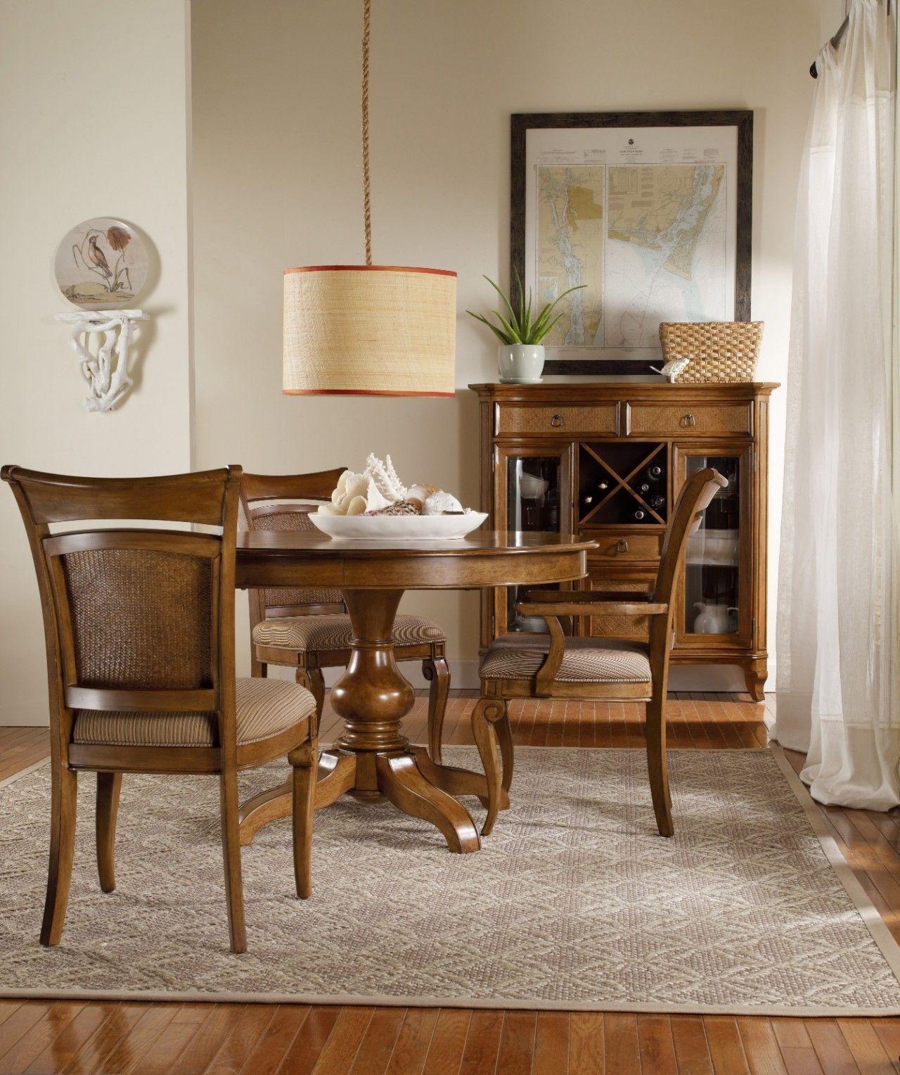 Hooker furniture windward round pedestal dining set sale ends mar 11