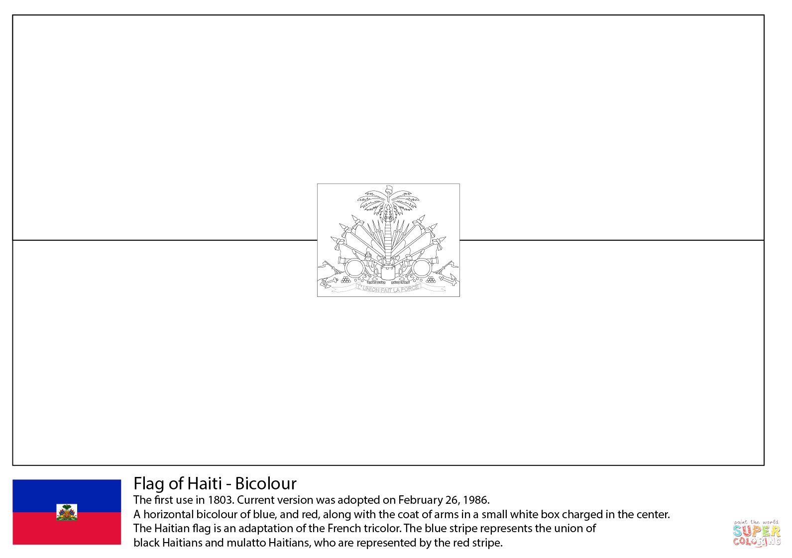 Ecuador Flag Coloring Page For 2019 Http Www Wallpaperartdesignhd Us Ecuador Flag Coloring Page For 2019 47590 Flag Coloring Pages Haiti Flag Haitian Flag