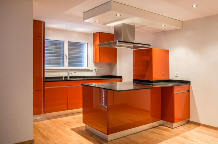Küchen aktuell Küche modern orange neuesten Entwurf