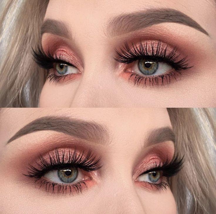 fresh peach makeup and editorial skin   Brow makeup, Peach