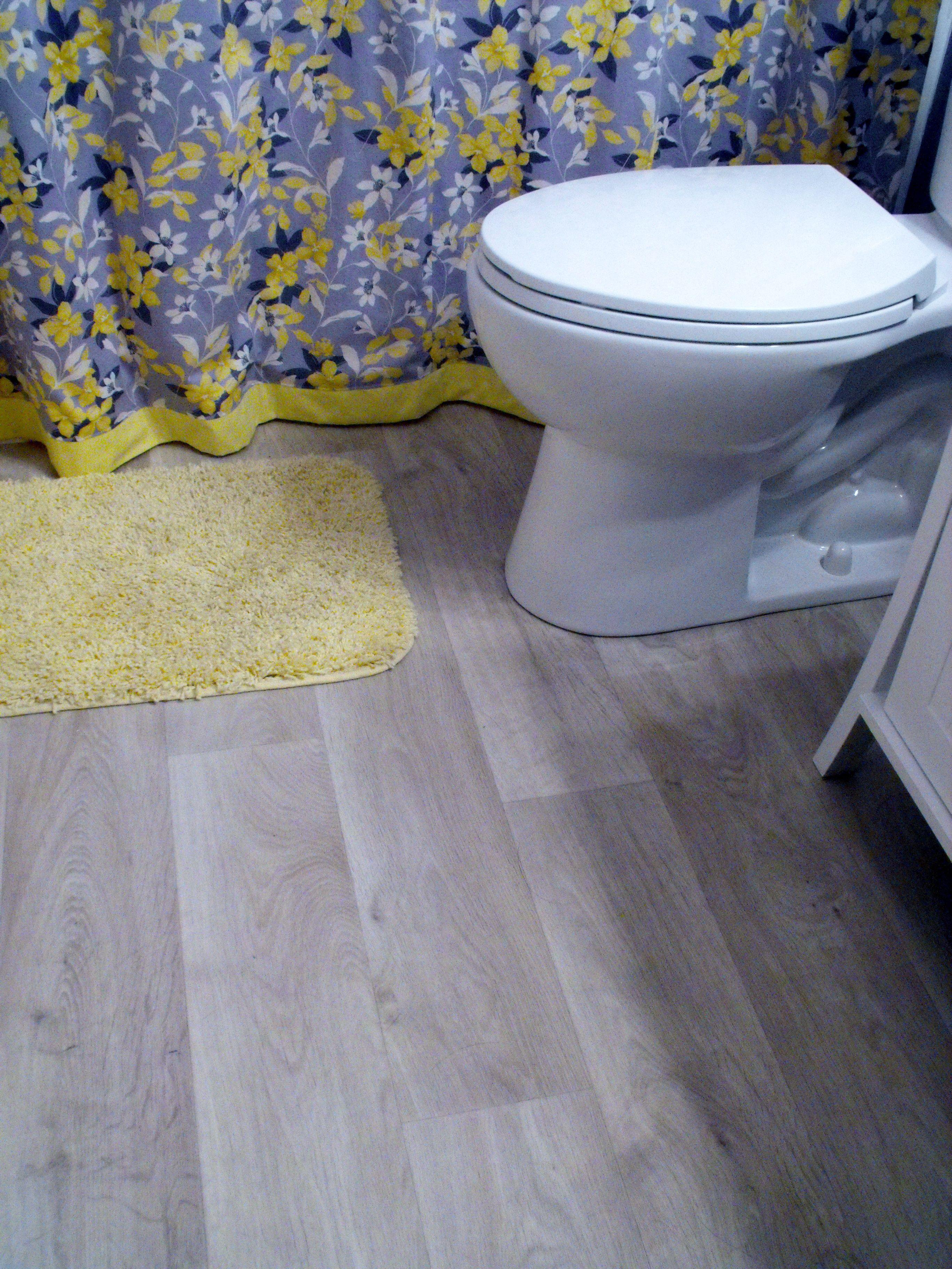 This Is The New Finished Floor It Looks Like Whitewash Wood Planks - New bathroom looks