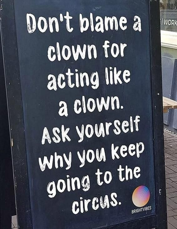 Don't Blame a Clown Best Quotes Sayings Blame quotes