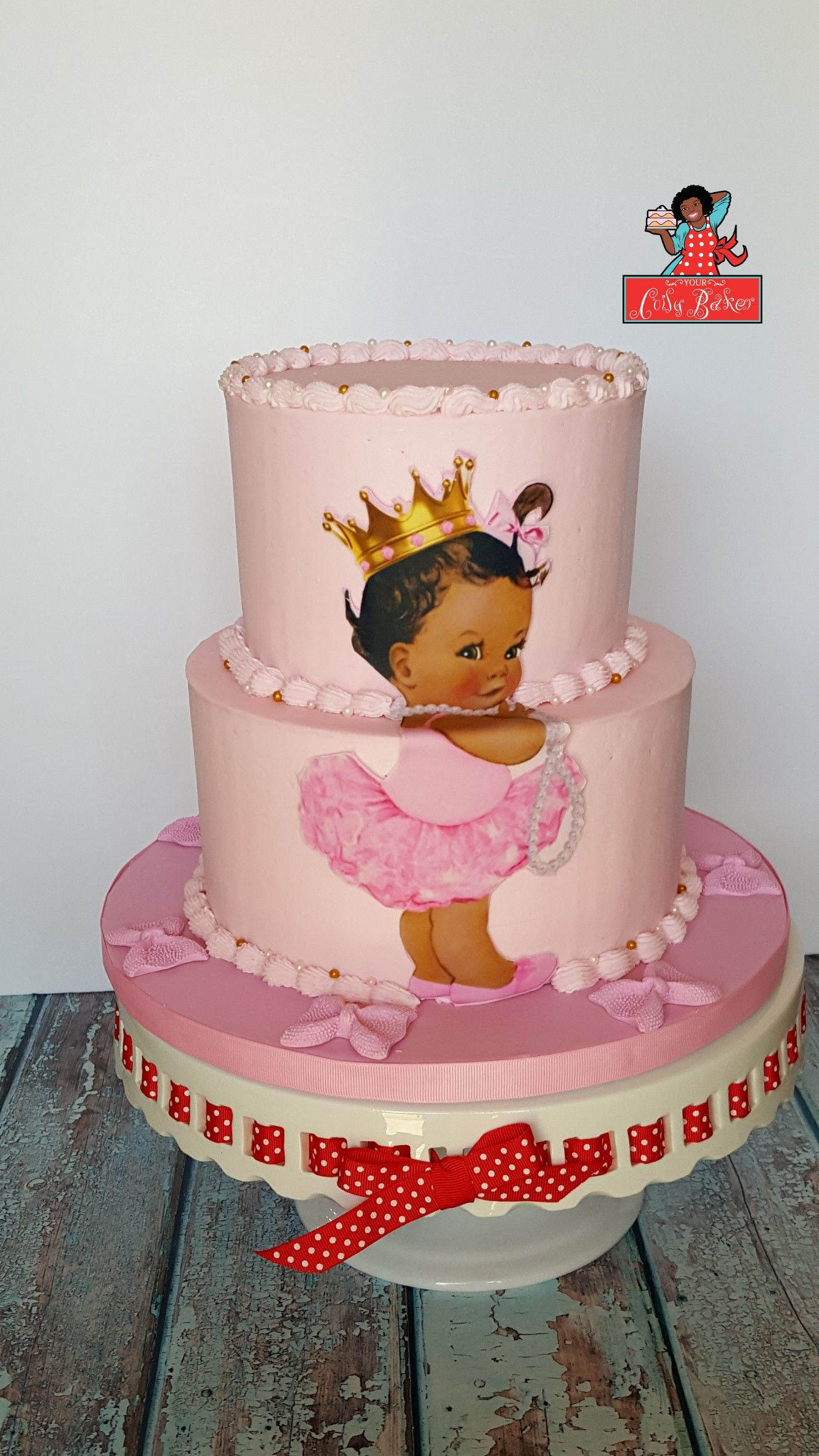 African American princess baby shower cake. | My cakes ...