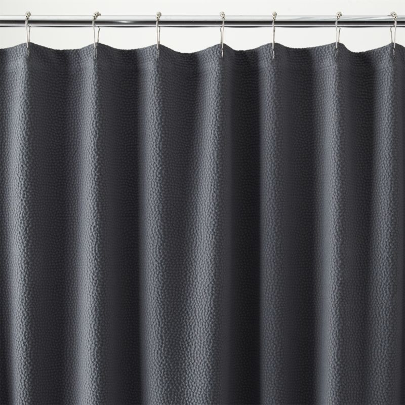 Pebble Matelasse Grey Shower Curtain Crate And Barrel Shower