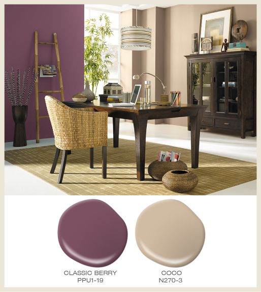Accent Wall That Matches With Tan: Color Of The Month: Berry Red! Featured #BehrPaint Room