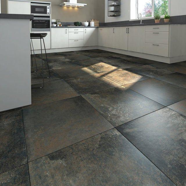 Carrelage Sol Et Mur Intenso Effet Beton Noir Metallise Preston L 60 X L 60 Cm Carrelage Sol Carrelage Carrelage Cuisine