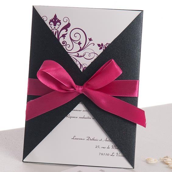 Assez Faire part mariage poche style: http://www.joyeuxmariage.fr  GO12