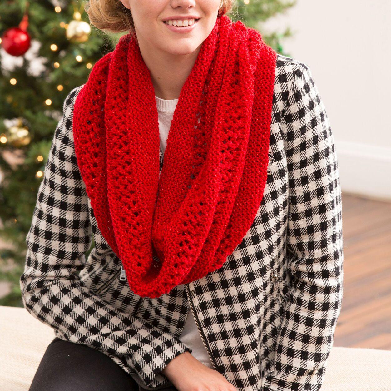 Red Heart Christmas Cowl | Yarnspirations | Infinity scarf ...