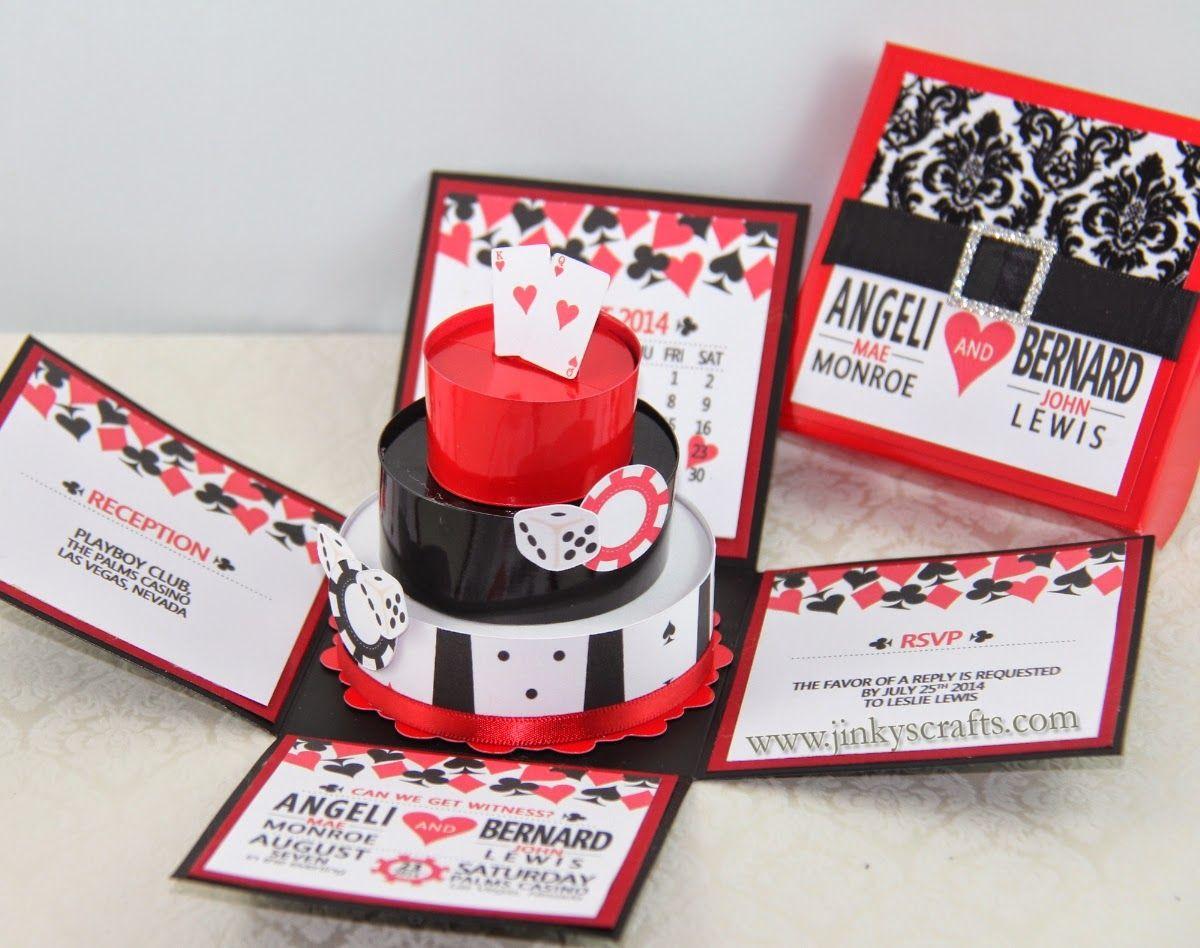 Pop up invite! Jinky\'s Crafts & Designs: Las Vegas Casino Themed ...