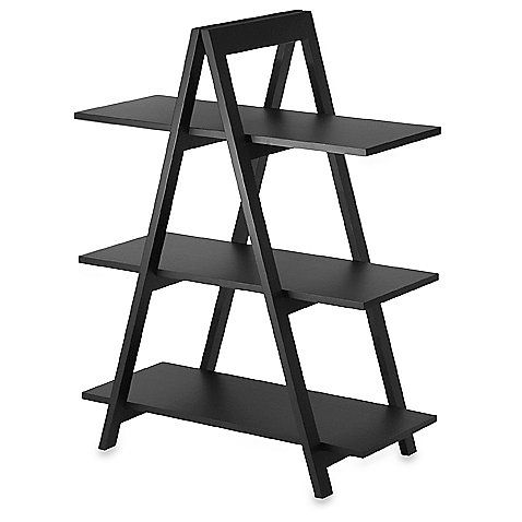 This Unique And Versatile Bookcase Offers Stylish Design And Plenty Of Display Options The Solid Hardwood Veneer Frame Shelf Wood Bookcase A Frame Bookshelf