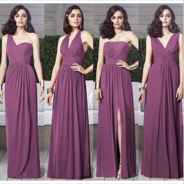 Purple Mismatched Bridesmaid Dresses, Long Bridesmaid Dress | Dream ...