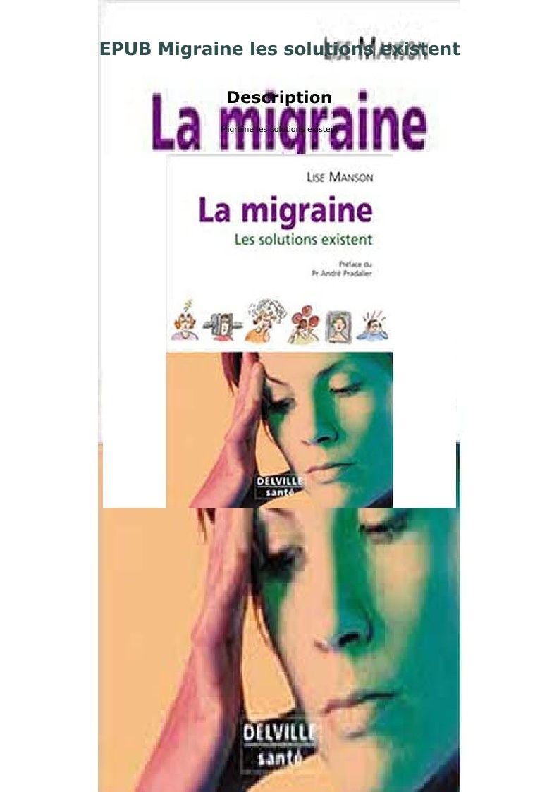 Epub Migraine Les Solutions Existent Migraine Solutions Paperbacks
