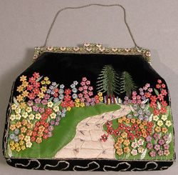 floral vintage bag from Brighton museum costume collection