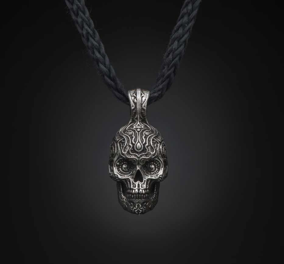 William henrys sterling silver skull pendant at gold rush fine william henrys sterling silver skull pendant at gold rush fine jewelry fairbanks alaska style mozeypictures Image collections